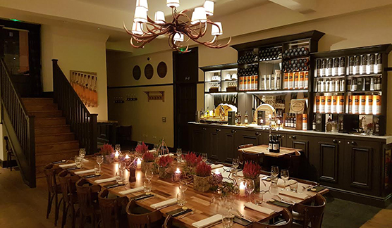 Glengoyne Private Dining Room Contini Cannonball House Royal Mile Edinburgh Christmas