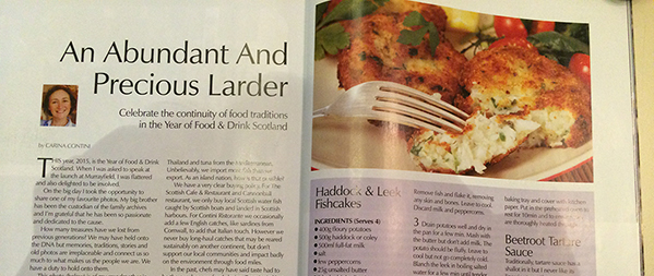 AN ABUNDANT AND PRECIOUS LARDER - Carina Contini - Scots Magazine