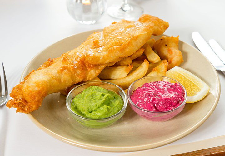 Fish and Chips High Tea at Cannonball Restaurant