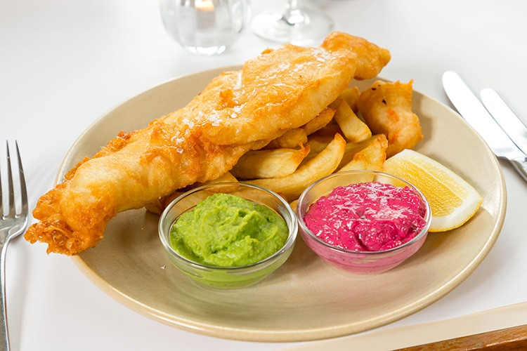 Posh Fish and Chips for High Tea